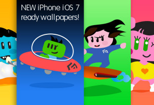 Lovely Aliens iOS 7 style wallpapers