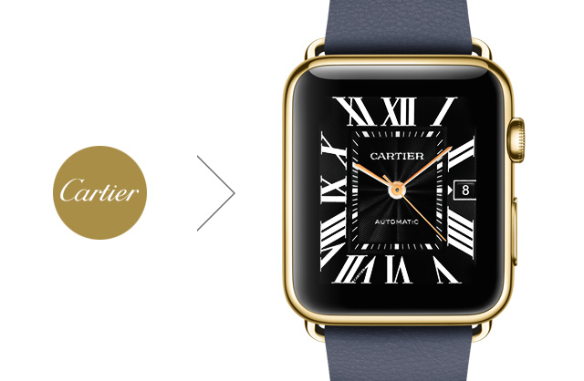 picture Cartier Apple Watch face concept