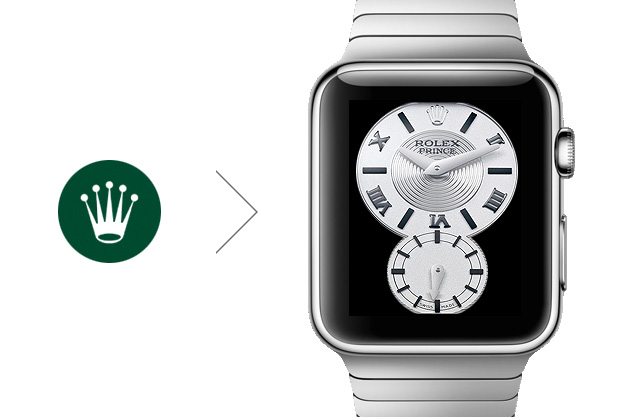 picture concept Rolex Apple Watch face