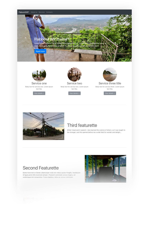 Flaboot 4 free responsive wordpress theme