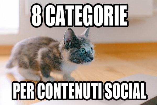 8 Categorie per contenuti social