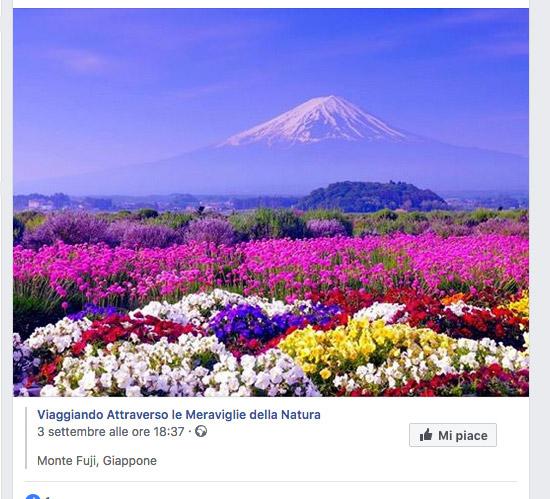 Post monte Fuji
